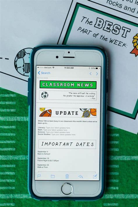 1000 Ideas About Teacher Newsletter Templates On Pinterest Classroom Newsletter Template Mobile Newsletter Template
