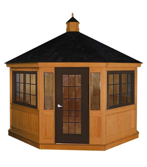 enclosed gazebo lovely enclosed gazebo 5 14 wood enclosed gazebo 12900