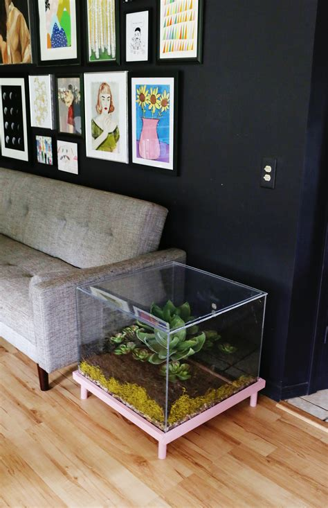 diy wooden coffee table a beautiful mess terrarium side table diy a beautiful mess