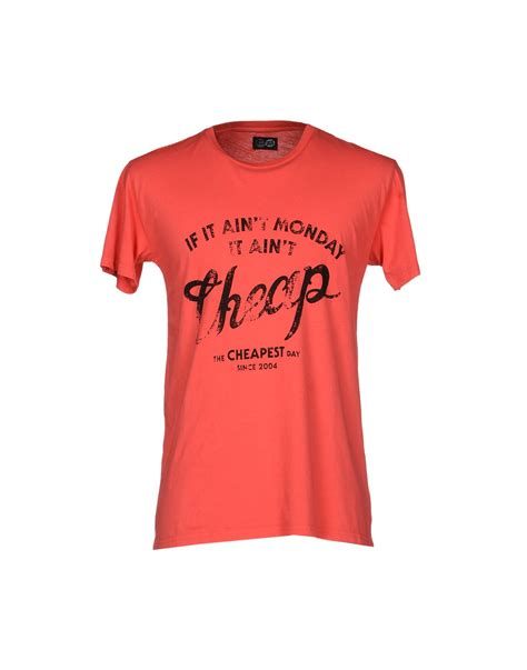 Cheap T Shirts Cheap Monday T Shirt In Pink For Lyst