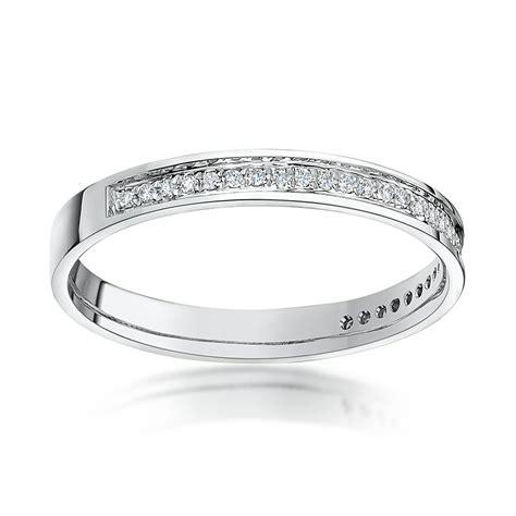 18kt white gold 3mm 0 15ct eternity wedding ring