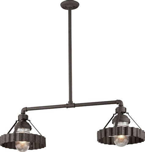 Nautical Island Lighting Troy F4248 Canary Wharf Nautical Burnt Island Lighting Tro F4248