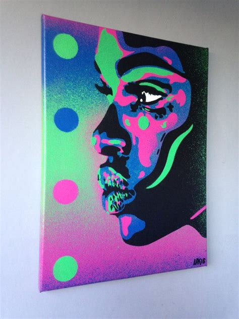 african woman face painting kiss  series stencil art