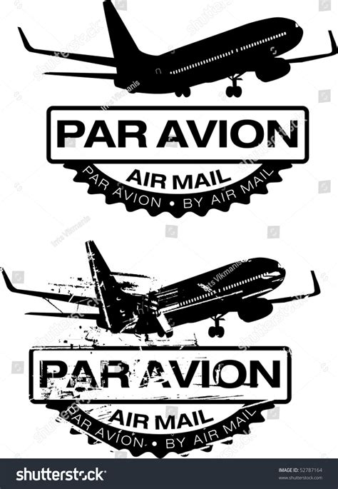 air mail rubber st par avion air mail rubber sts stock vector 52787164