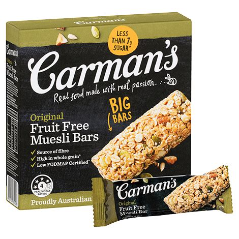 Muesli Free original fruit free muesli bars carman s kitchen