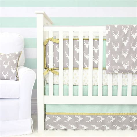 woodland nursery bedding set woodlands deer crib bedding set by caden
