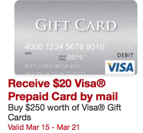 Order Visa Gift Card - get 20 when you buy 250 in visa gift cards at staples