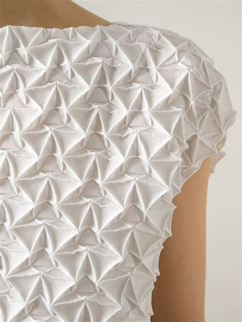 Origami Fabric - fabric manipulation textured dress with geometric pleats