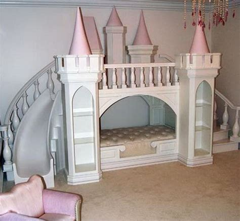 bunk beds with slide princess castle loft bed by