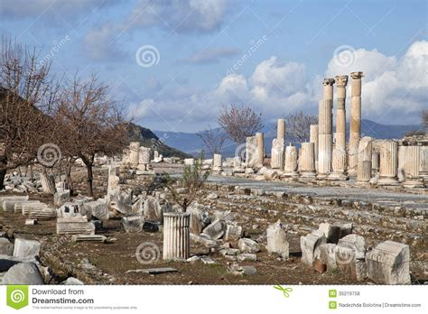 Mediterranean House Plans With Photos Ancient Greek Town Of Ephesus In Turkey Stock Photo