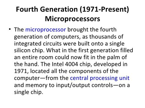 integrated circuits built on silicon chips were introduced during the generation of computing the 5 generations of computers
