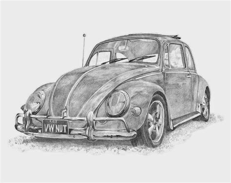 volkswagen bug drawing drawings car and bike drawing
