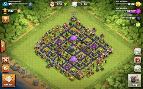 layout village clash of clans town hall 8 layout clash of clans www pixshark com