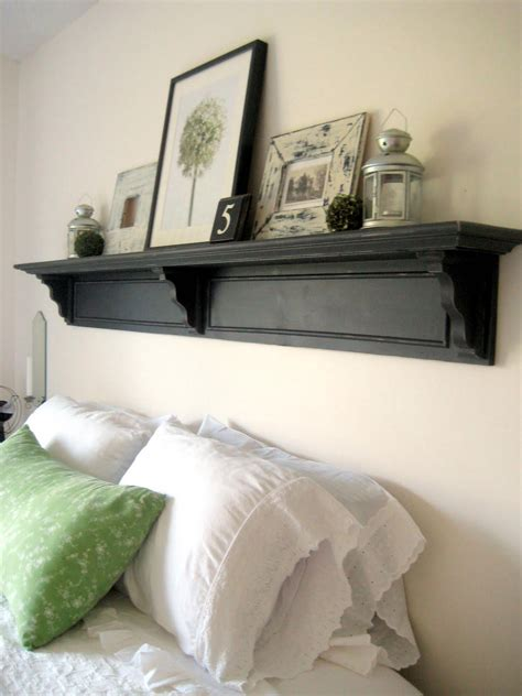 diy headboard with shelves shelving how can i hang a shelf with no visible