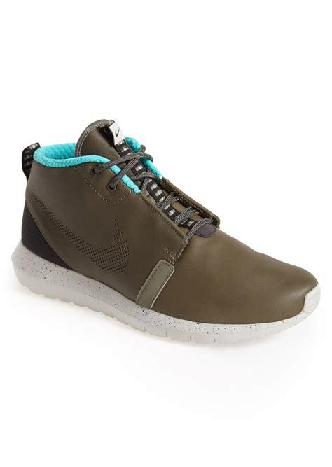 nike roshe run sneaker boot nike nike roshe run premium water resistant leather