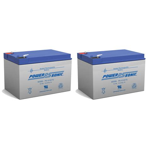 Battery Pack For Table L by Power Sonic 2 Pack Ub12120 F2 Pride Go Chair Sla Sealed