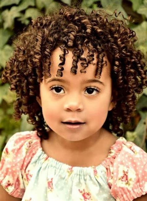 cute hairstyles for short curly for kids and