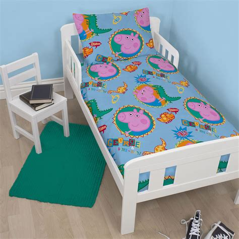 peppa pig bed set peppa pig and george bedding single double junior