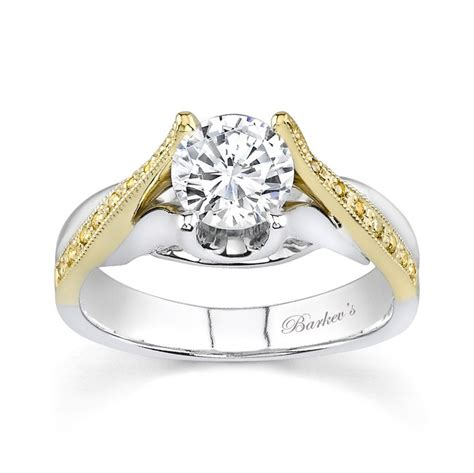 two tone engagement ring 7128lydw dramatic