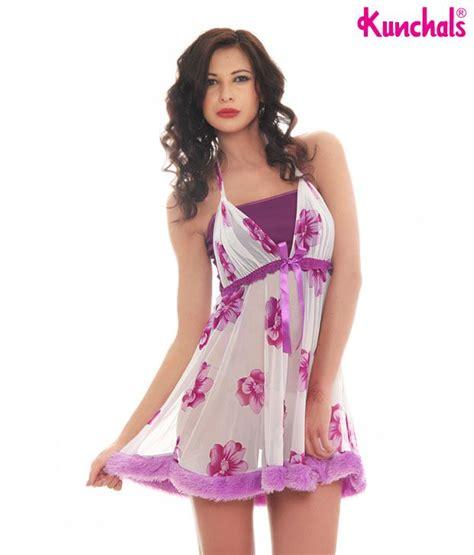 Dress Babydoll 508purple Buy Kunchals Purple Babydoll Dress N W 2643whpr At