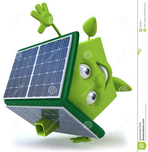 green house with solar panels royalty free stock