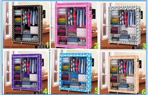 Lemari Pakaian Multifungsi Wardobe Cover 08 jual cloth rack with cover rak baju multi fungsi lemari