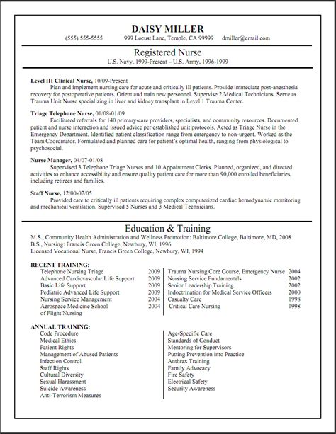 registered resume sle format