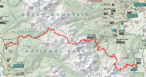 rocky mountain national park map across rocky mountain national park in a day semi rad