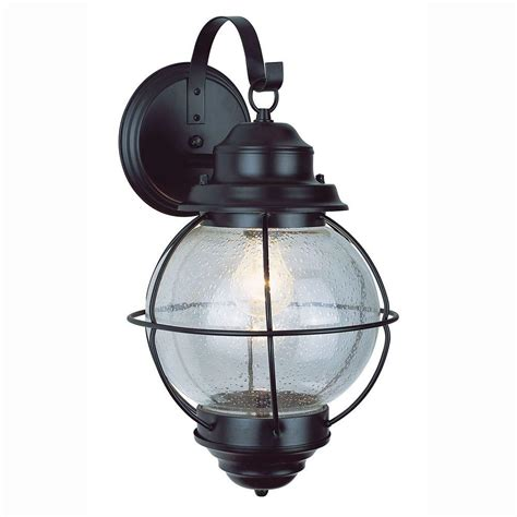 Outdoor Lantern Light Bel Air Lighting Lighthouse 1 Light Black Outdoor Coach Lantern With Seeded Glass 69900 Bk The