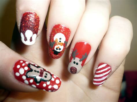 christmas decorated finger nails 16 gorgeous and easy nail ideas for celebration all about