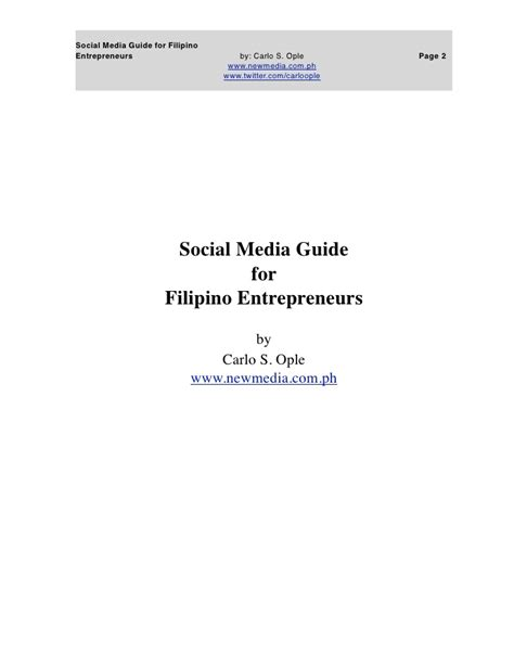 filipino thesis about social media social media guide for filipino entreps