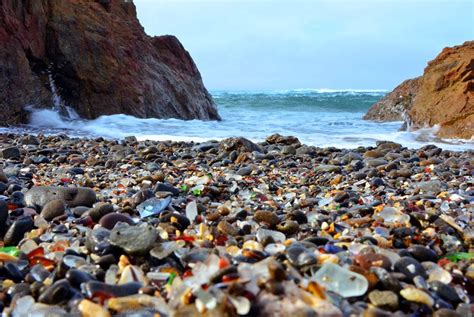beach of glass glass beach california beautiful place in the world