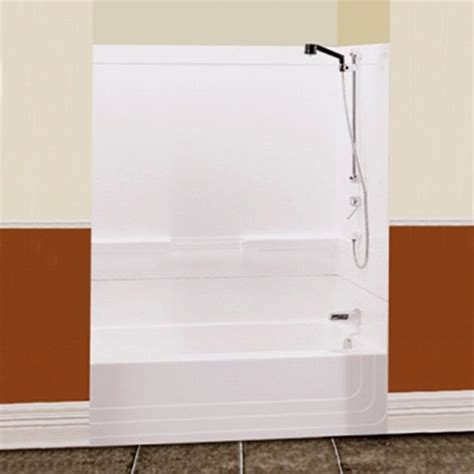 2 piece bathtub monaco 60 quot two piece white tub shower by maax right drain