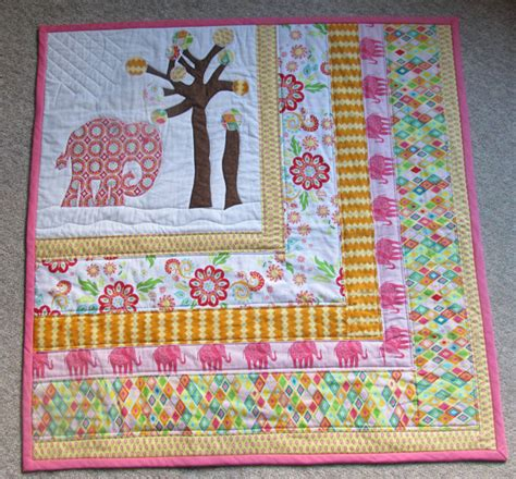 baby quilt quilts elephant toddler bedding by