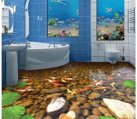 Wallpaper Balok 3d Murah Berkualitas murah foto kustom lantai wallpaper 3d stereoscopic ikan lantai 3d 3d mural pvc wallpaper