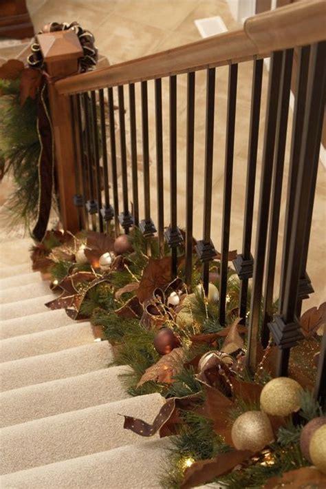 holiday decor twist garland   bottom  stair