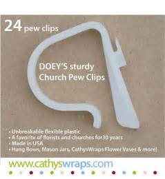 Doeys pew bow clips hold heavy wedding ceremony pew decorations to
