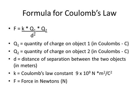 Charge Of A Proton In Coulombs by The Effect Of Charge And Distance On Electric Ppt
