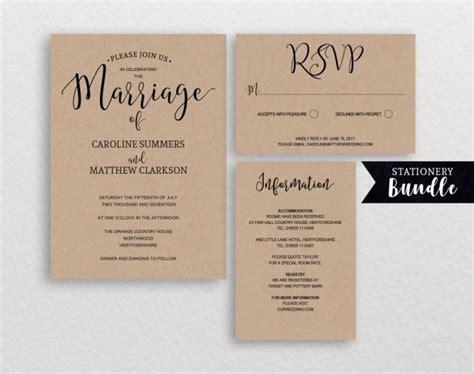 diy rustic wedding invitations templates rustic wedding invitation template printable invitations