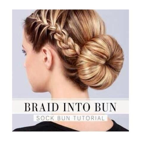 easy sock bun with braid braided sock bun trusper