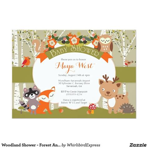 Animal Themed Baby Shower Invitations by 140 Best Woodland Animals Baby Shower Theme Images On