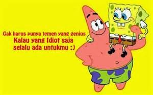koleksi gambar lucu kartun spongebob dengan kata bijak gambar lucu