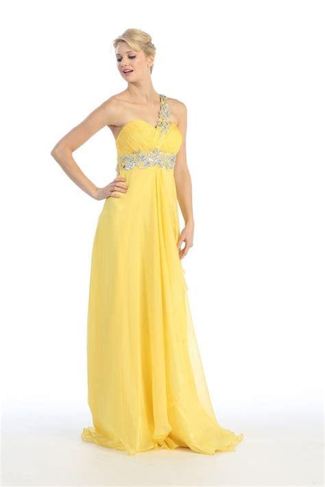 Yellow Shoulder Kid Ij one shoulder empire waist prom dresses www imgkid the image kid has it