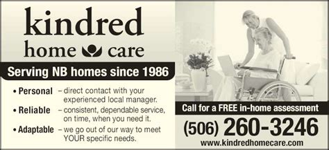 kindred home care fredericton nb 237 brookside dr