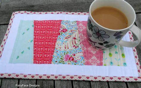mug rug tutorial fairyface designs sew get started easy mug rug introduction to quilting