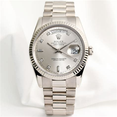 rolex day date 118239 18k white watchcollectors co uk
