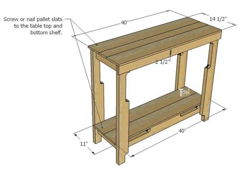pallet wood entry table add pallets  tool belt