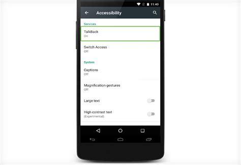 android talk back acesibilidad en android apps para gente con discapacidad