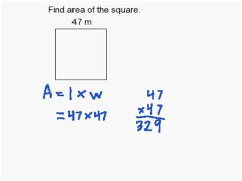 Finding The In How To Find The Area Of A Square