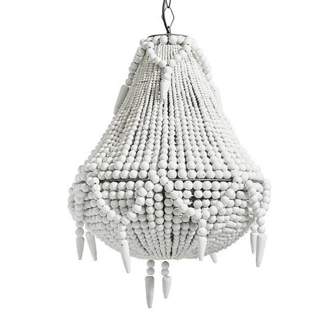 White Beaded Chandelier Large White Beaded Chandelier By Out There Interiors Notonthehighstreet